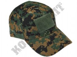 Military Operators Baseball Cap 3 Velcro Patch Panels Army Green Digital Camo
